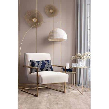 Willa arlo interiors c line linen armchair - Willa arlo interiors keeley bar cart ...