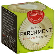 Paper Chef Culinary Parchment Baking Cups, Extra Large, 30 count, (Pack of 12)