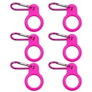 OHDUJK 6pcs Silicone Water Bottle Carrier Hiking Sports Bottle Holder Clip Hook for Outdoor Activities