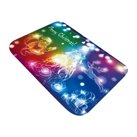 Christmas Mats and Rugs Flannel Fabric Non Slip Rubber Backing Absorbent Bath Rug Home Kitchen Floor Mat ()