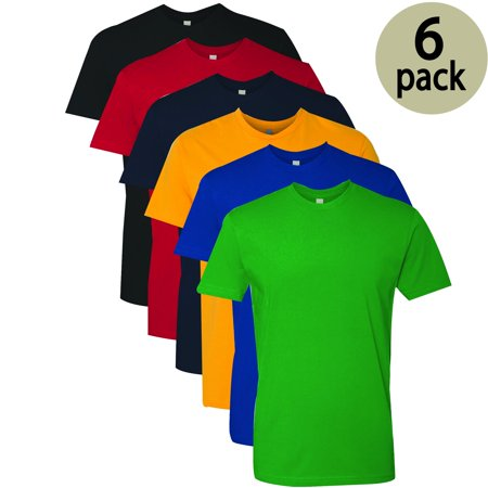 VALUE PACK >  BUY 3 TEE's GET 3 FREE > 6 PACK > Flat S/H $10 > NEXT LEVEL  Men's Premium T-Shirt (XS-4XL) In this Pack: