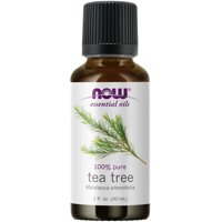 NOW Essential Oils, Tea Tree Oil, Cleansing Aromatherapy Scent, Steam Distilled, 100% Pure, Vegan, Child Resistant Cap, 1-Ounce