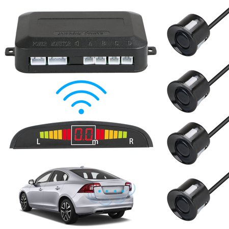 TSV LED Display Car 4 Parking Sensor Reverse Backup Radar Alarm
