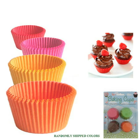 120 Mini Cupcake Liners Paper Baking Cups Cake Candy Cookie Muffin Bite Size New