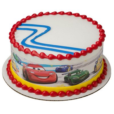 Disney Cars Mcqueen Edible Photo Image Cake Border Decoration