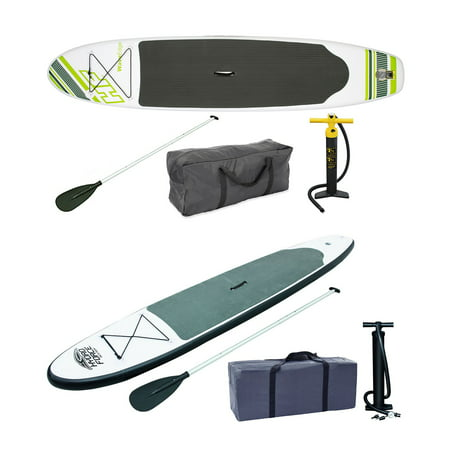 Bestway Inflatable Hydro Force Stand Up Paddle Board, Green + Gray Paddle (Best Way To Hide Gray In Dark Hair)