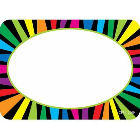 Creative Teaching Press Name Tags  Rainbow Stripes  Pack Of 36
