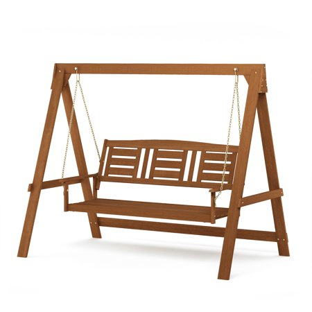 Furinno Tioman Hardwood 3 Seater Swing with Stand ()