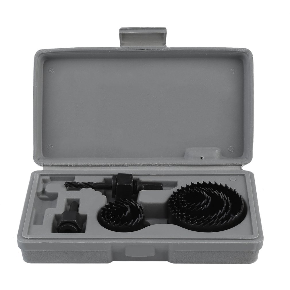 11PCS Hole Saw Cutting Set Kit 19-64mm Round Hole Saws Arbors With Case Woodworking machinery parts