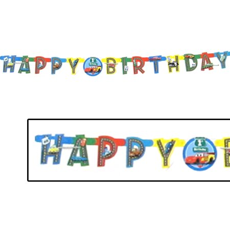 Cars 1st Birthday Happy Birthday Banner - Cars Banner