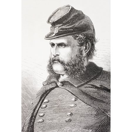 Ambrose Everett Burnside 1824  1881 Union General In American Civil War From El Museo Universal Published Madrid 1862 Posterprint