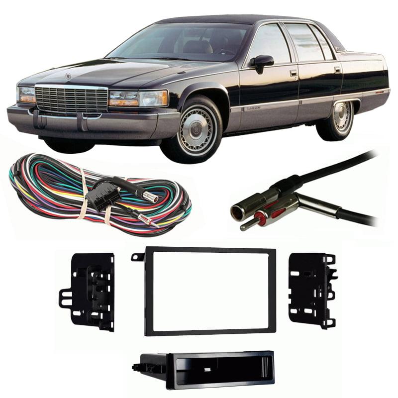 Fits Cadillac Fleetwood 1988-1989 Single DIN Harness Radio Install Dash Kit