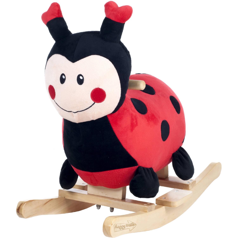 Trademark Global Happy Trails Rocking Lucy the Ladybug