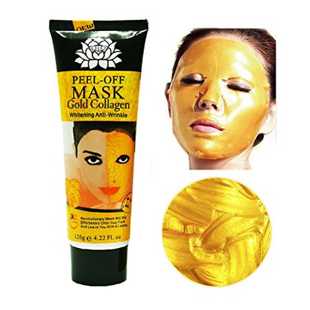 24k Gold Collagen Peel-off Facial Mask Whitening Anti-Wrinkle Face Masks Skin Care Face Lifting Firming