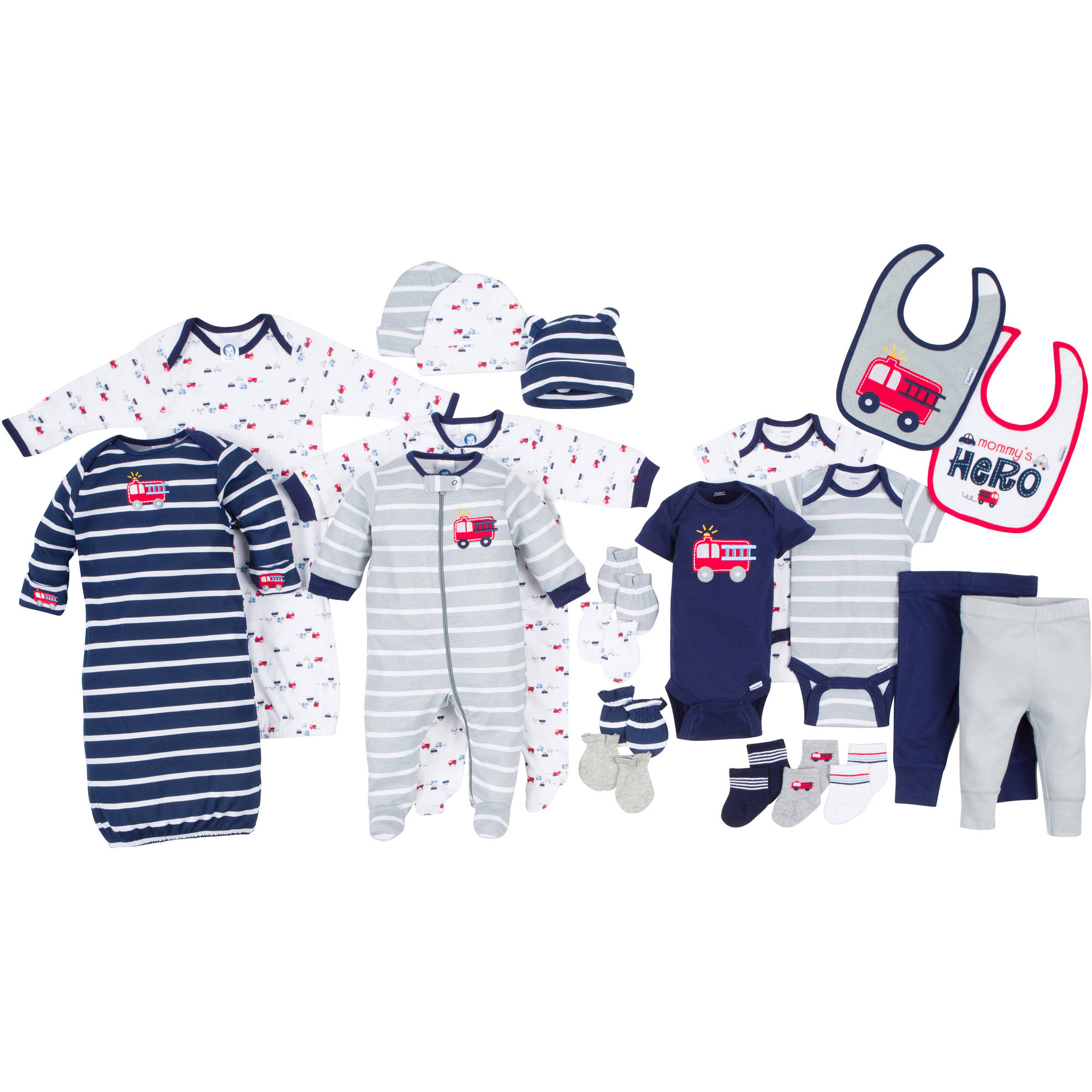 Gerber Newborn Baby Boy Perfect Baby Shower Gift 22-Piece Layette Set, Age 0-3M