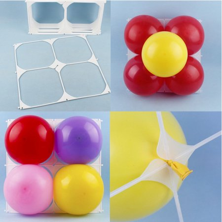 20/50Pcs 4 holes balloon grid Balloon wall grids balloon modeling accessories for birthday wedding party - Balloon Wall