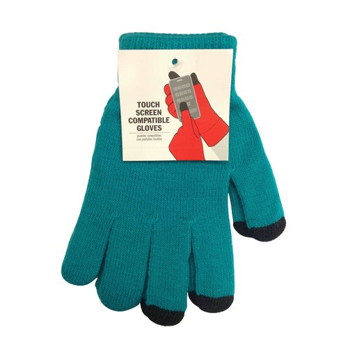 Turquoise Solid Tech Glove