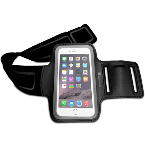 """FIT Armband Case - GreatShield Stretchable Neoprene Sport Armband Case with Key Storage for Apple iPhone 6/6s 4.7"""""""
