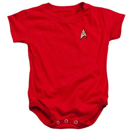 Star Trek Engineering Uniform Unisex Baby Snapsuit (Star Trek Dress Uniform)