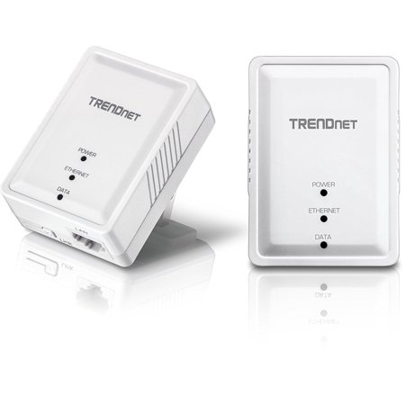 Powerline 500 Av Mini Network Starter Kit  Tpl 406E2k  Wireless Powerline Size Port Plug Access Adapter 1Port Tpl410ap Tpl406e2k Network Mimo Up Av500 Av2    By Trendnet