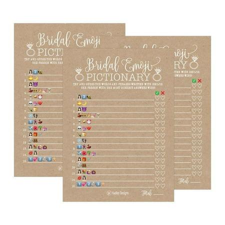 25 Kraft Bridal Shower Emoji Game