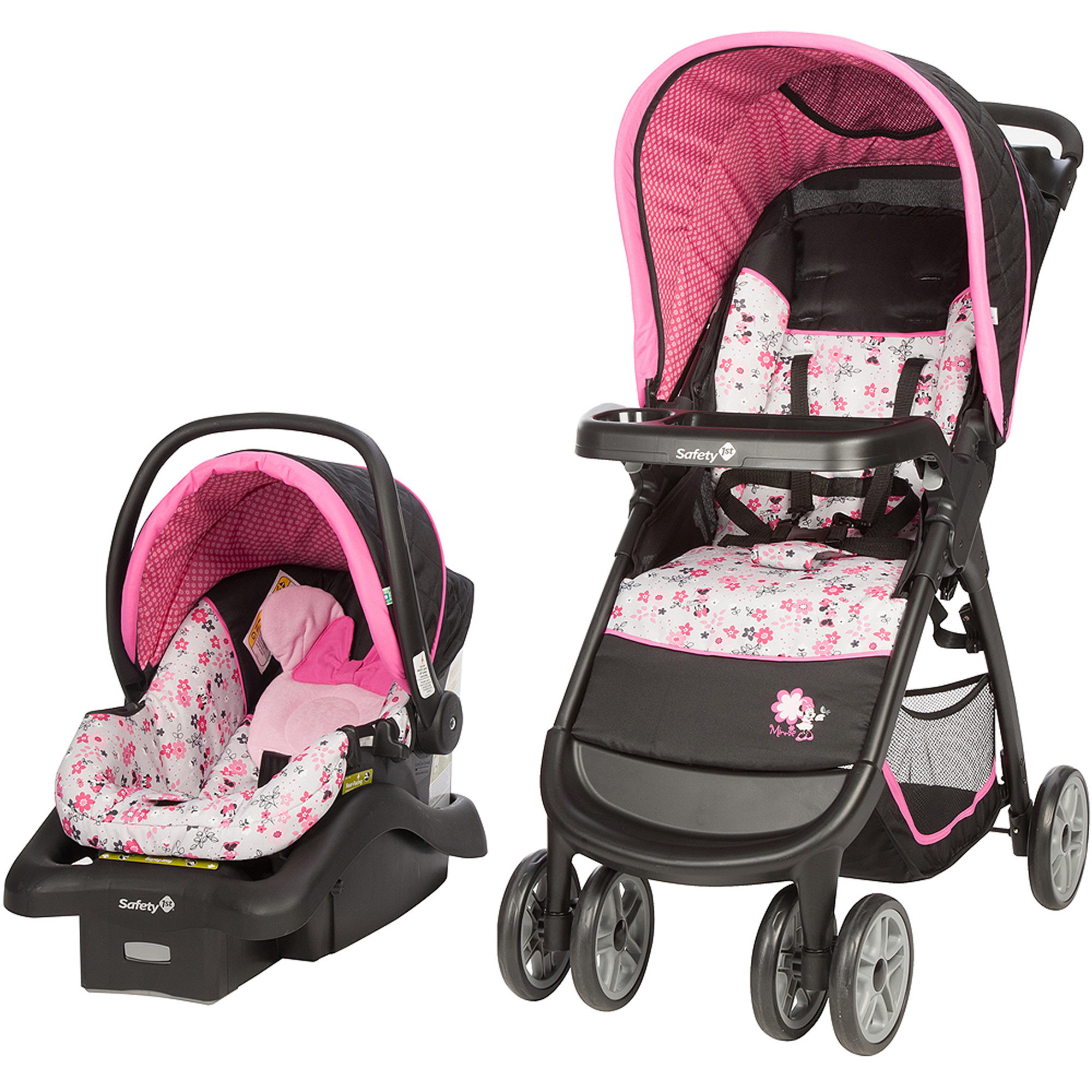 Disney Baby Minnie Mouse Amble Quad Travel System with Onboard 22 Car Seat