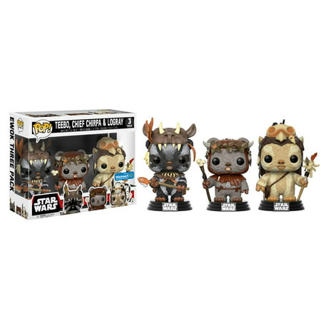 Funko POP! Movies: Star Wars - Ewok 3 Pack - Teebo, Chirpa, Logray - Walmart Exclusive - 1980s Pop Stars