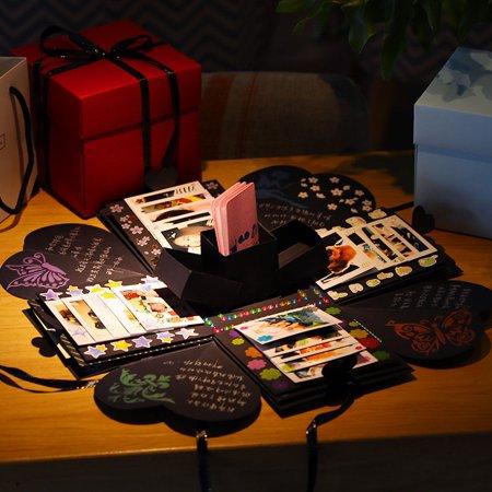 Tinymills DIY Explosion Box Memory Scrapbook Photo Album Craft Kits Anniversary - Memory Craft