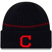 Cleveland Indians New Era Primary Logo On-Field Sport Cuffed Knit Hat - Navy - OSFA