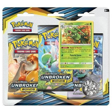 Pokemon Sun & Moon 10 Unbroken Bonds 3Pk Blister