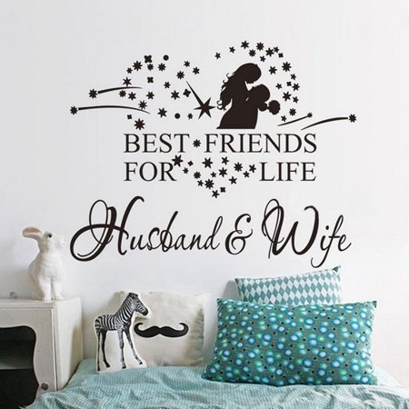 Husband and Wife Removable Room Vinyl Decal Art DIY Wall Sticker Home Decor