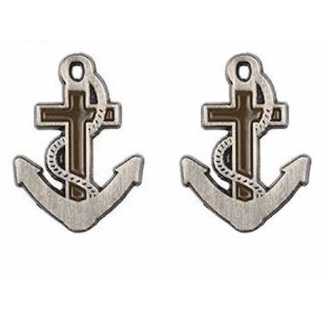 Anchor of Hope Cross Lapel Pin Pewter, Package of 2.
