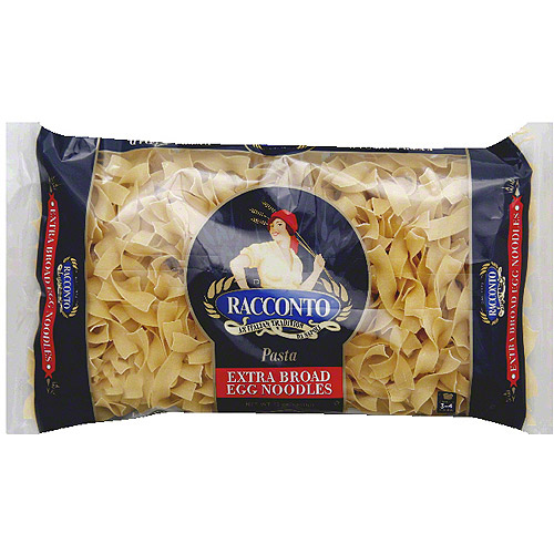 Racconto Extra Broad Egg Noodles, 12 oz, (Pack of 12)