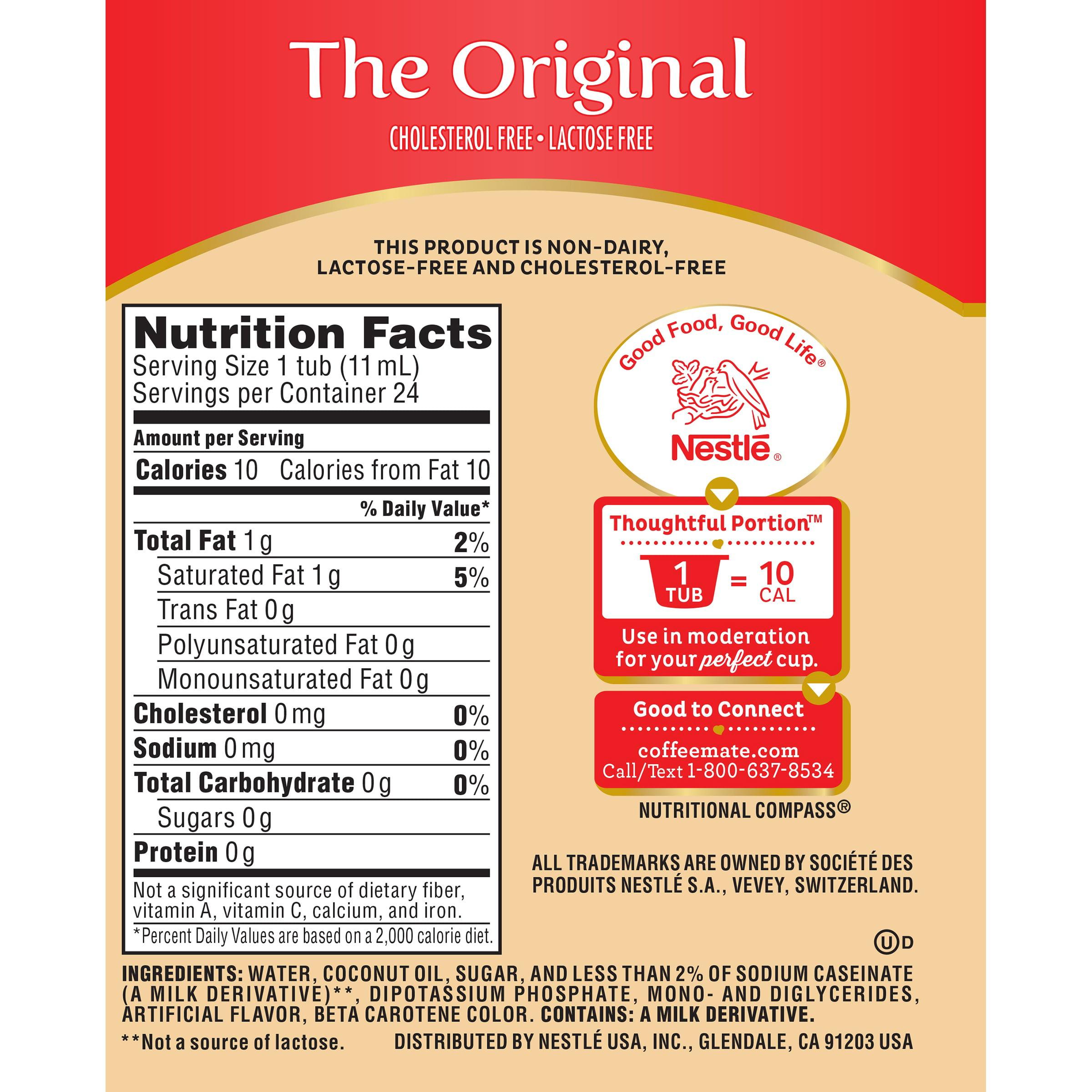 International Delight Non Dairy Creamer Nutrition Facts ...