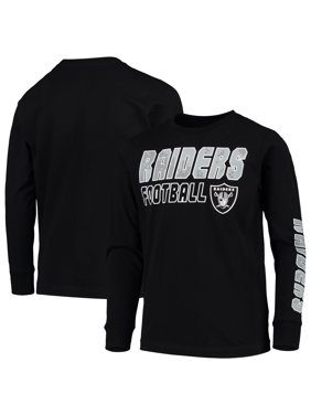 Youth Black Las Vegas Raiders Team Sleeve Hit Long Sleeve T-Shirt