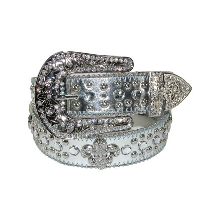Women's Fleur de Lis Studded Rhinestone Belt - Toddler Studded Belt