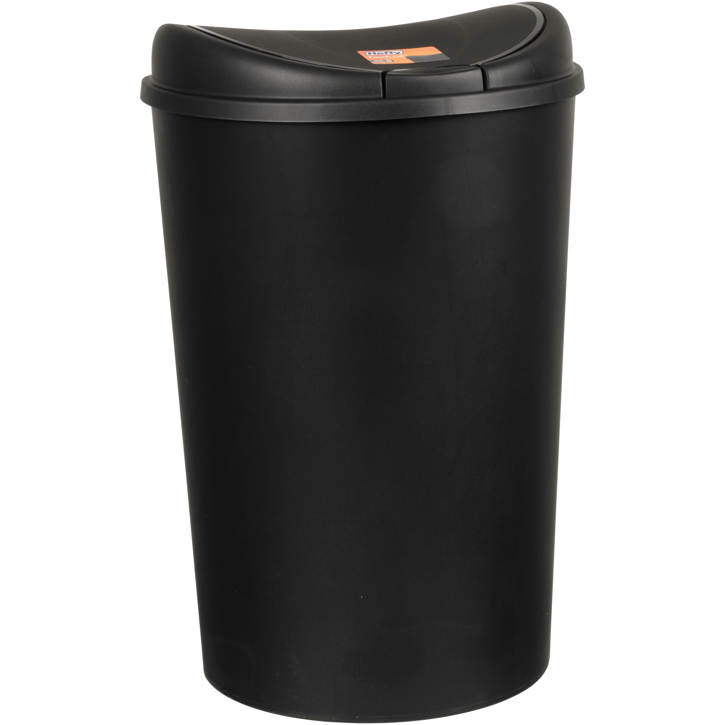 Hefty 138 Gallon Semi Round Touch Lid Trash Can Black Walmartcom