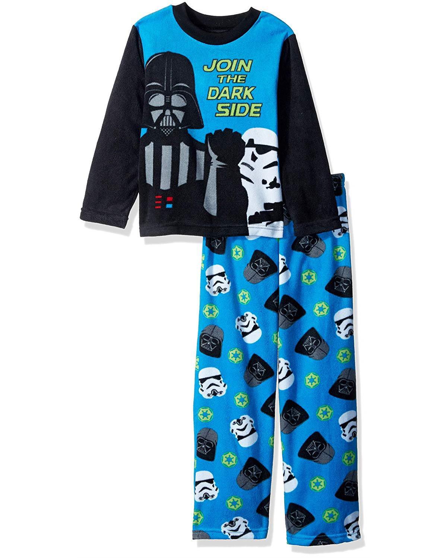 Star Wars Boys' Darth Vader 2-Piece Fleece Pajama Set, Dark Side, Size: 8