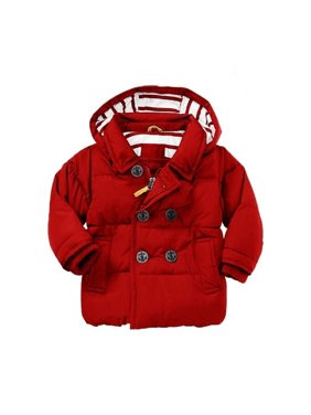 Toddler Baby Black Cotton Jacket Coat