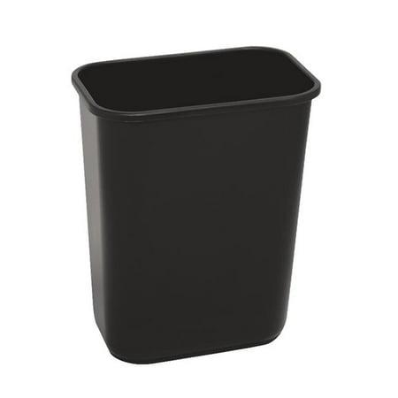 Medium Wastebasket (Wastebasket Black 41.25 Qt)