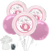Umbrellaphants Pink Baby Shower Balloon Bouquet Kit - Party Supplies
