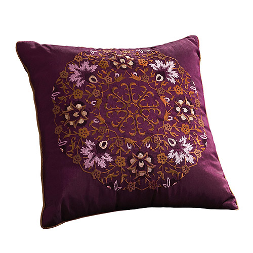 Better Homes and Gardens Garden Antique Wallpaper Stripe Purple Decorative Pillow