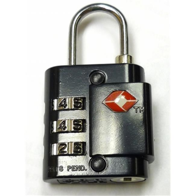 Chicago Case Co 61-6147 TSA Padlock TSA Approved 3-digit combination padlock