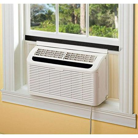 HQRP Foam Window Air Conditioner Weatherstrip / Insulating Strip Seal, 2 1/8-Inch x 2 1/8-Inch x 43-Inch + HQRP Coaster - image 1 de 4