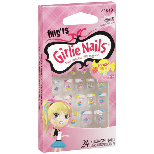 Fingrs Fingrs Girlie Nails Stick-On Nails, 24 ea