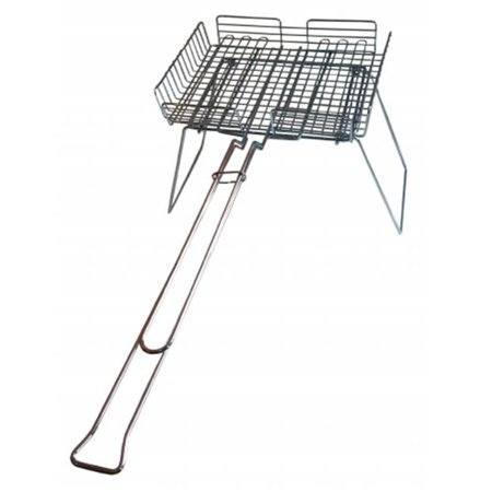 Rome 66D Chrome Plated Steel Basket Broiler Deluxe with Grill Stand