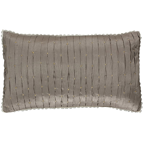 "Adorn Home Colette Decorative Pillow, 12"" x 20"", Beige"