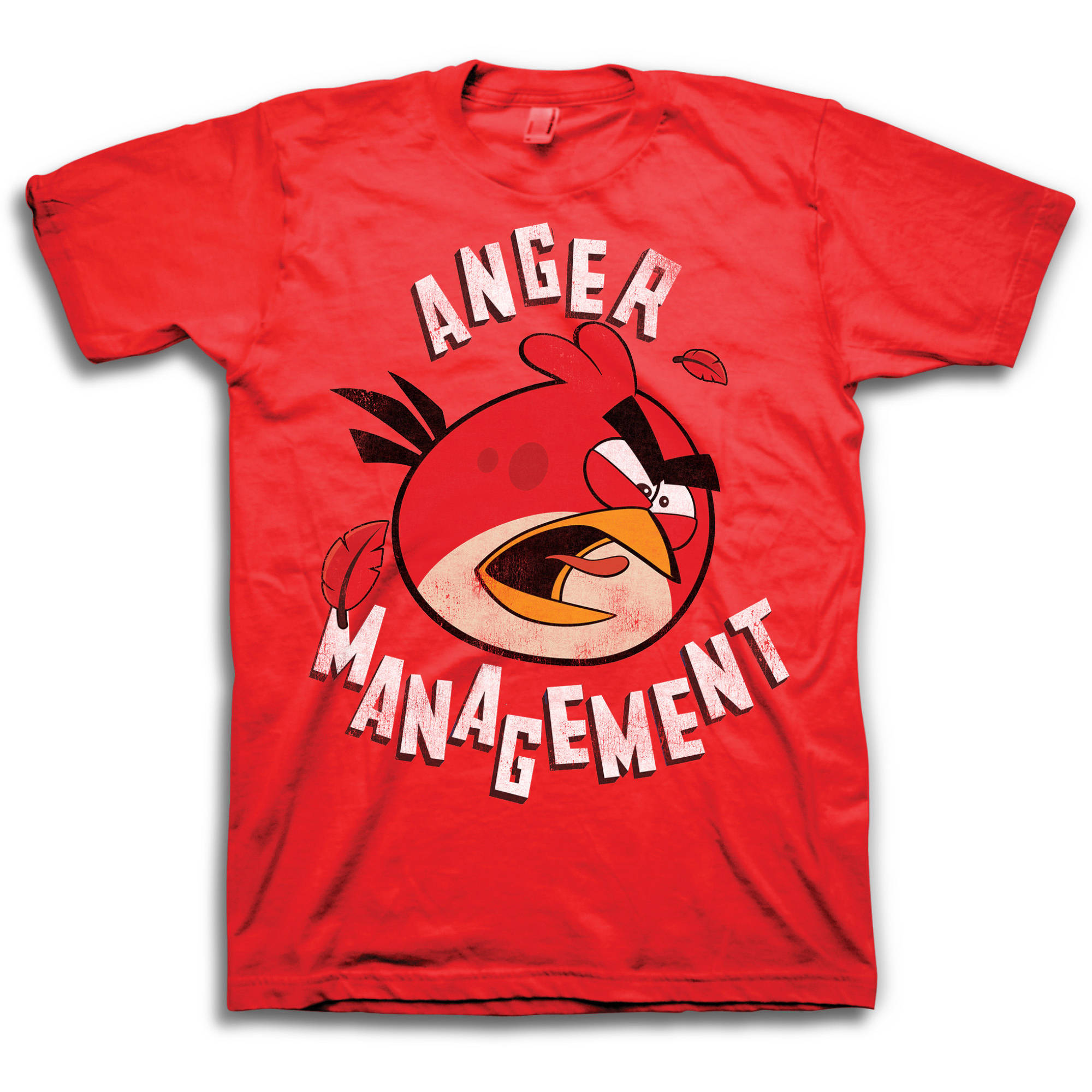 Angry Birds Anger Management Big Men's Short Sleeve Graphic Tee T-Shirt, 2XL