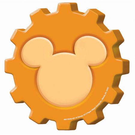 (6 Pk) Mickey Mouse Clubhouse Gears Paper Cut Outs - Mickey Mouse Cut Out