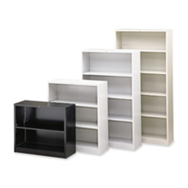 HON Company HONS42ABCL 3 Shelf Metal Bookcase- 34-. 50inchWx12-. 63inchDx41inchH- Putty